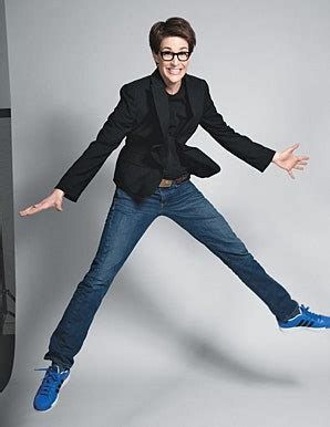 """Rachel Maddow Tells Katie Couric, """"I'm Not Competing on"""