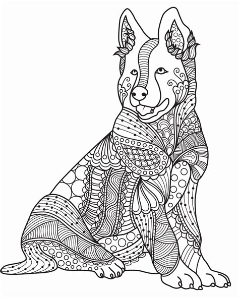 Realistic Dog Coloring Pages at GetColorings