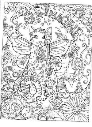 Cat Abstract Doodle Zentangle ZenDoodle Paisley Coloring