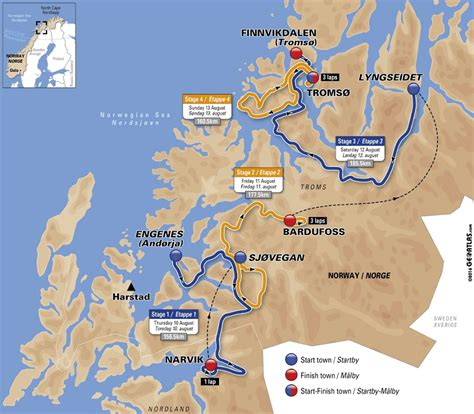 Arctic Race of Norway 2017 – Steder i Nord-Norge