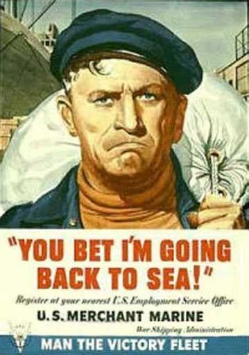 US WWII Poster - Merchant Marines