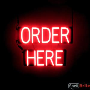 ORDER HERE Signs | SpellBrite LED - better than Neon