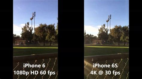 Iphone 6S 4K -vs- Iphone 6 1080p Video Resolution - YouTube