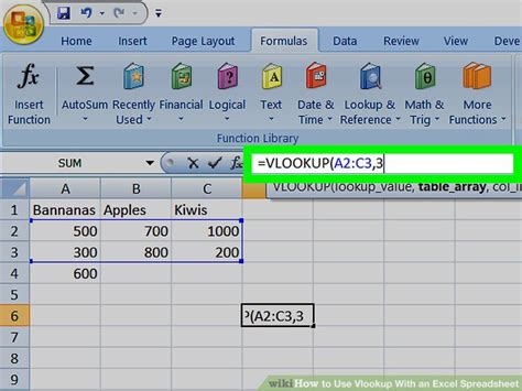 How to Use Vlookup With an Excel Spreadsheet: 10 Steps
