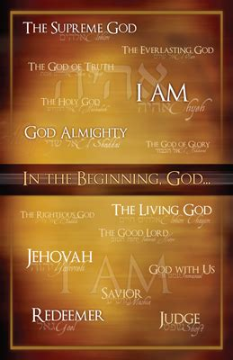 Names of God Poster | Answers in Genesis