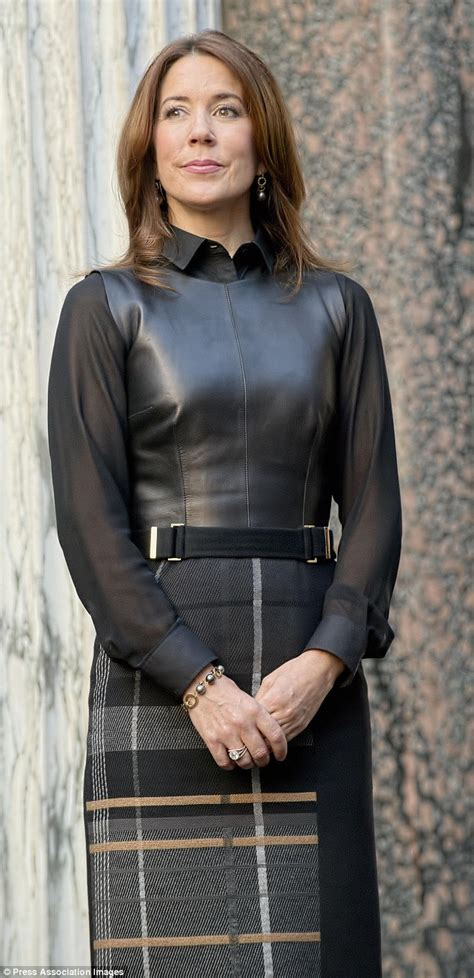 Princess Mary dons a black leather vest and knee-high